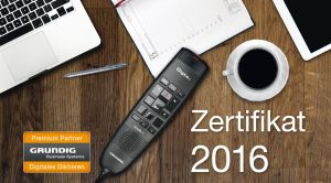 Grundig Business Systems Zertifikat 2016